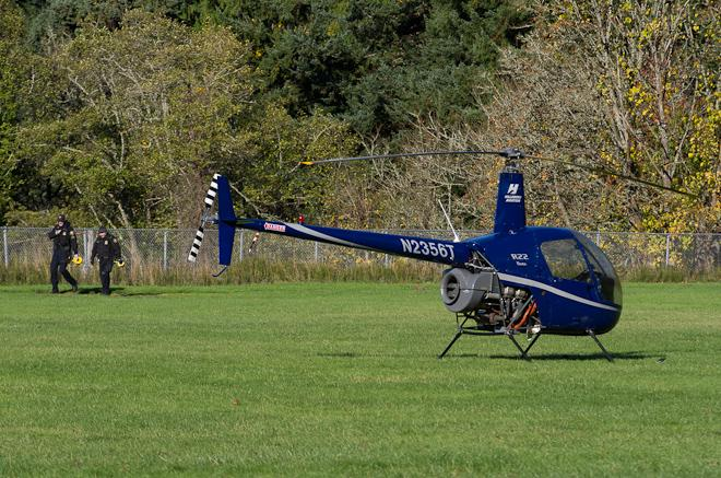 Helicopter makes emergency landing at Portland school