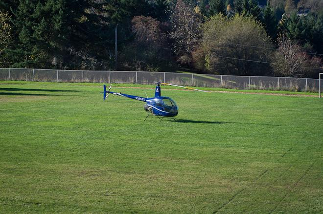 Helicopter makes emergency landing at Robert Gray Middle School