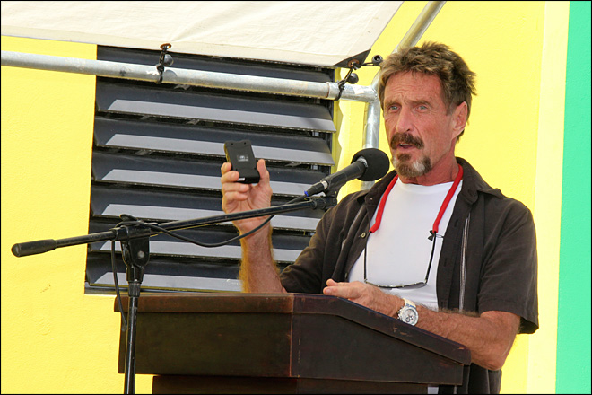 McAfee blogs about run from police in Belize
