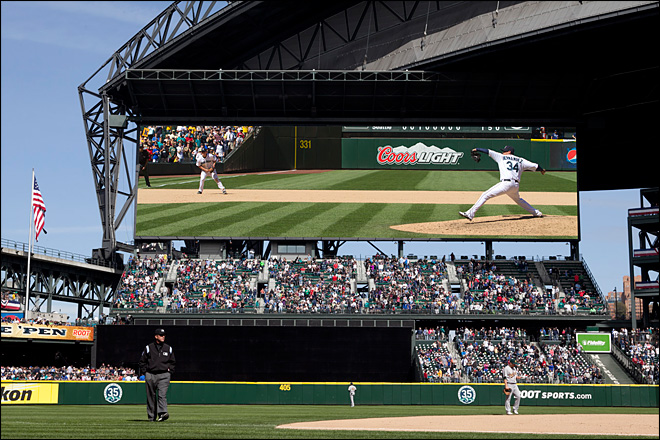 M's to install baseball's largest HD video screen at Safeco Field