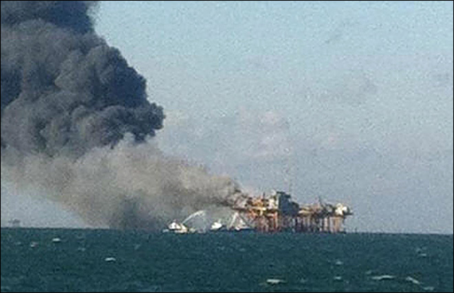 Explosion on Gulf oil rig leaves 4 hurt, 2 missing