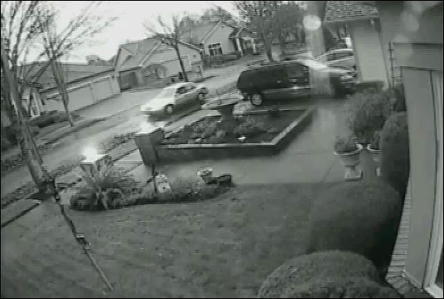 Neighbor catches car burglar on camera