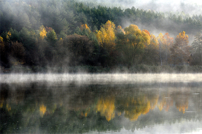 APTOPIX Hungary Morning Mist