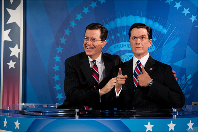 Stephen Colbert joins US presidents at wax museum
