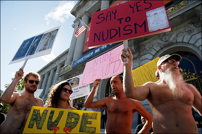 Judge weighs blocking San Francisco's nudity ban