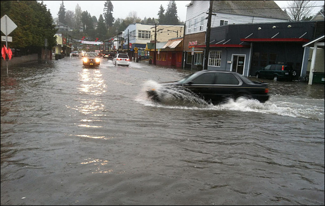 Flooding in Downtown Port Orchard
