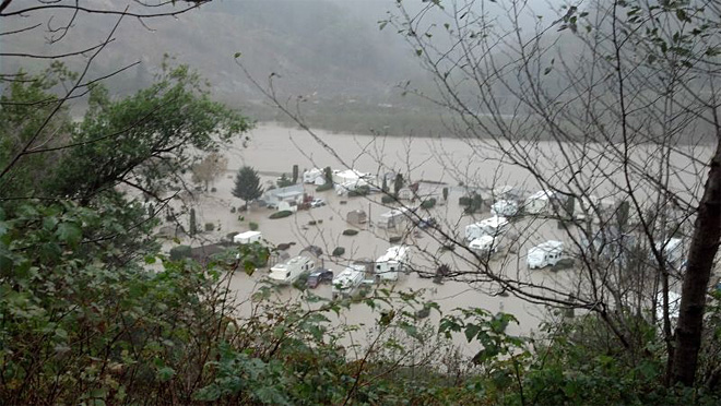 RV park flooded in Curry County