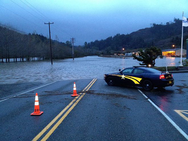 Flooding in Curry County, Oregon