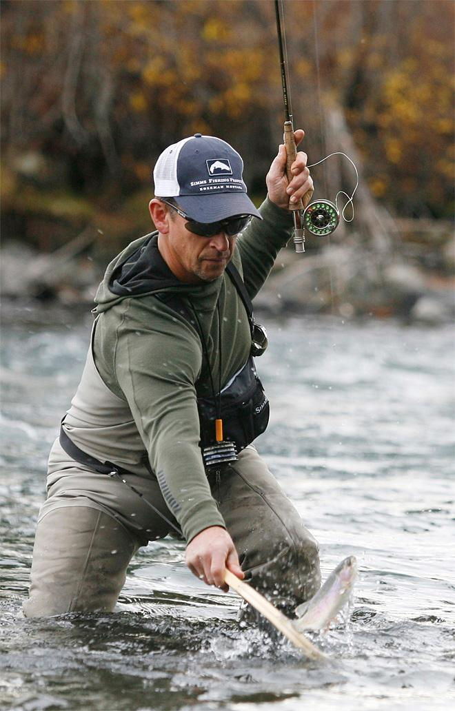 Winter fishing on Upper Deschutes River