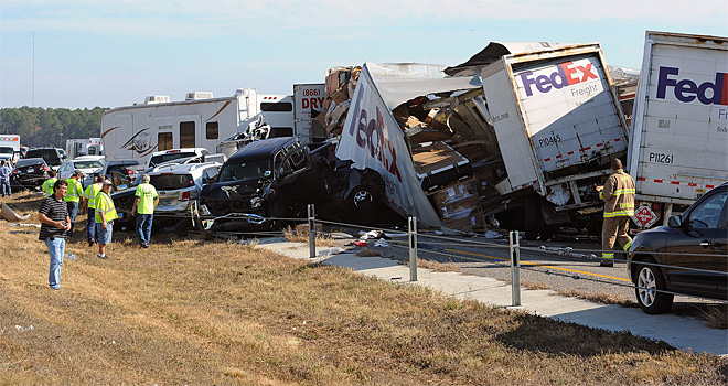 APTOPIX Southeast Texas Highway Crash