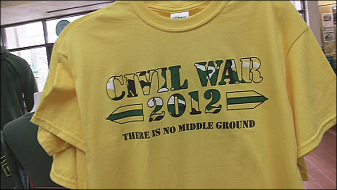 Civil War shirts sell fast as the game approaches