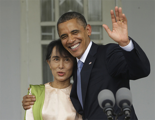 APTOPIX Myanmar US Obama
