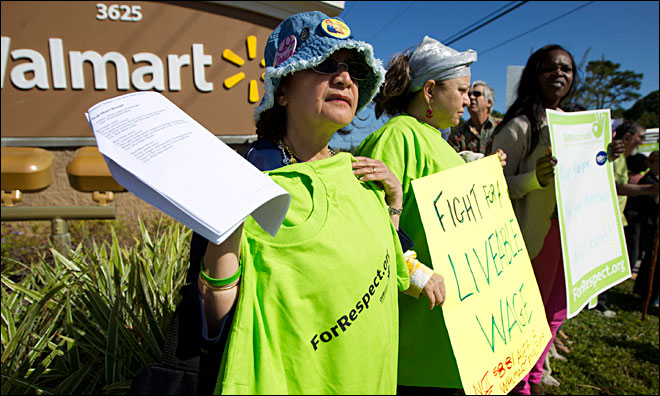 Protests greet shoppers at Wal-Marts nationwide