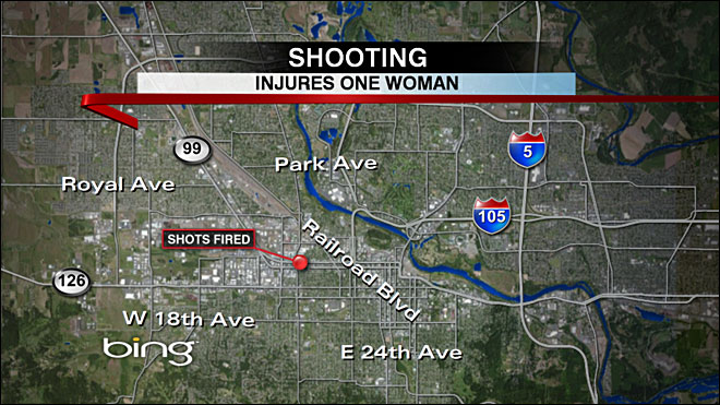 Woman shot; police looking for suspect