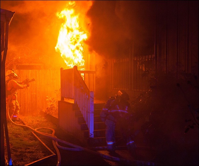 Gresham Mobile Home Fire