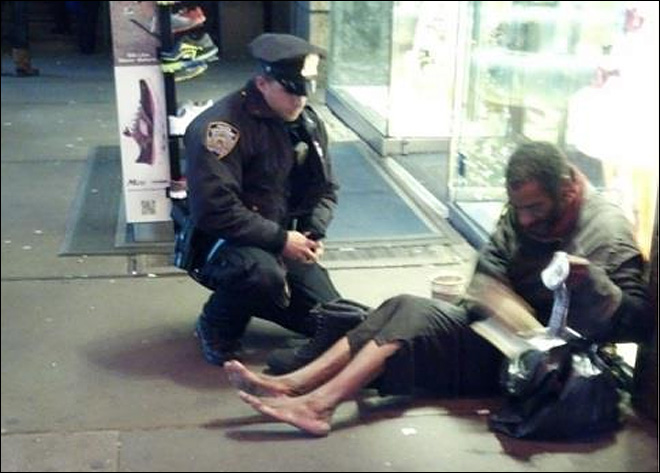 Homeless man shoeless again despite officer's gift