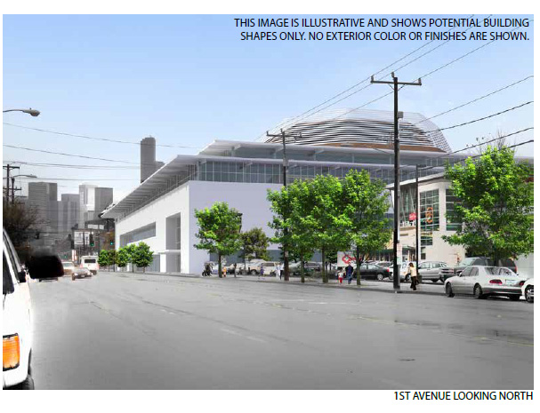 "Proposed Seattle Arena, Design 3 ""Preferred Design"""