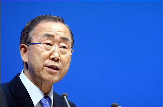 U.N. chief urges faster response to global warming
