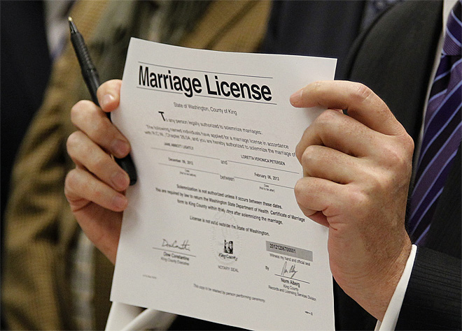 Gay Marriage Midnight Licenses