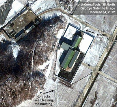 Images: Snow may have slowed NKorea launch prep