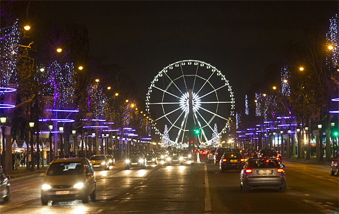 APTOPIX France Christmas Champs Elysees