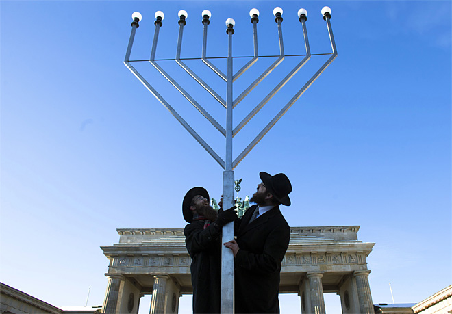 APTOPIX Germany Hanukkah