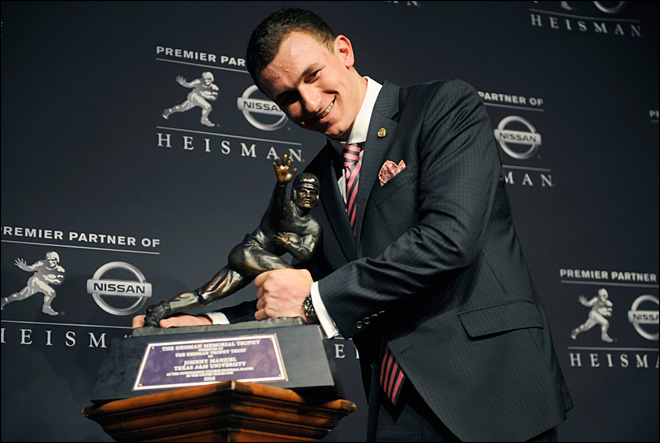 Johnny Manziel is first freshman Heisman Trophy winner