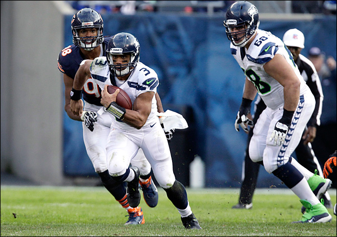 Russell Wilson leading Seahawks' playoff charge