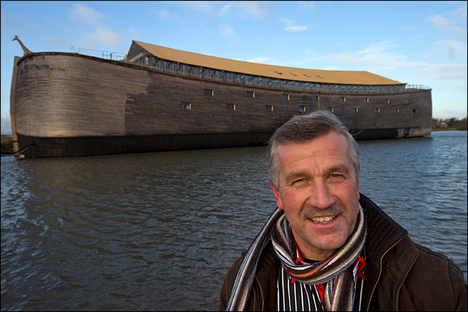 Photos: Man launches life-sized replica of Noah's Ark