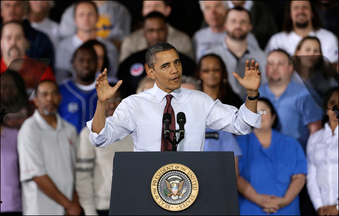 Obama says he 'won't compromise' on taxes