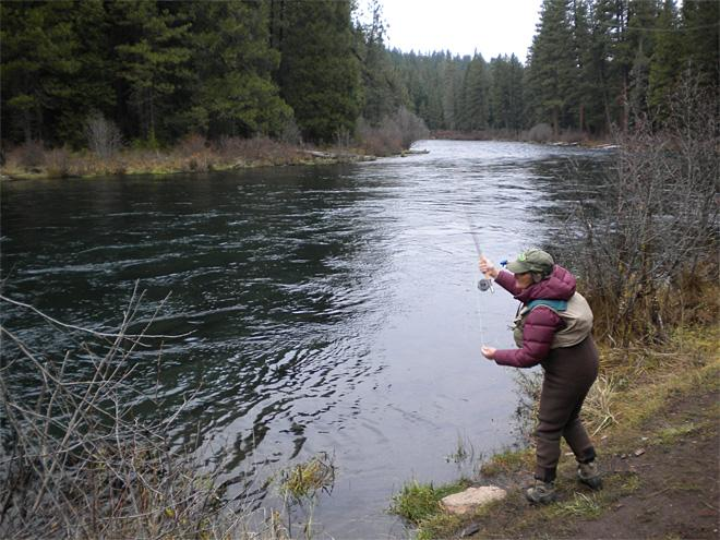 You'll catch some winter solitude on the Metolius