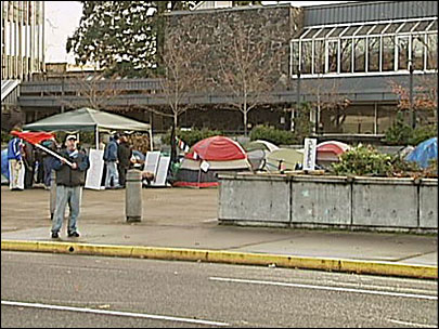 Protesters: City OKs tents as a symbol of protest