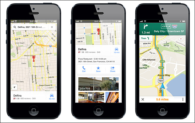 Google Maps return to iPhone