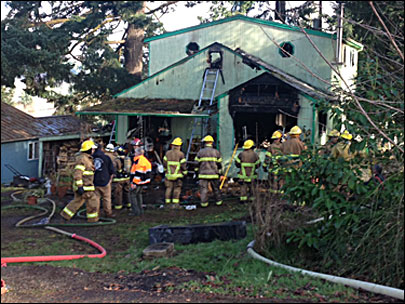 Fire burns firefighter's house