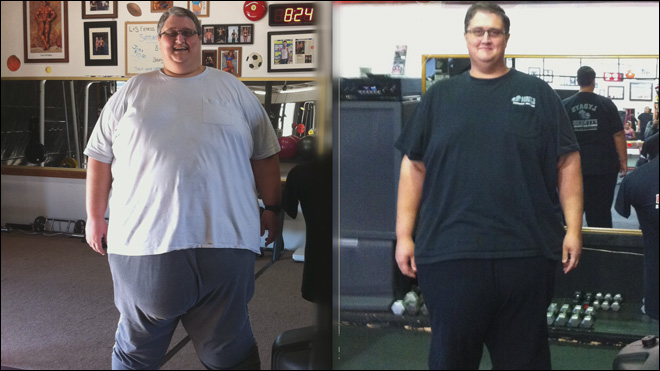 Man sheds hundreds from 710 lbs body