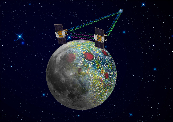 Twin NASA spacecraft to plunge into lunar mountain