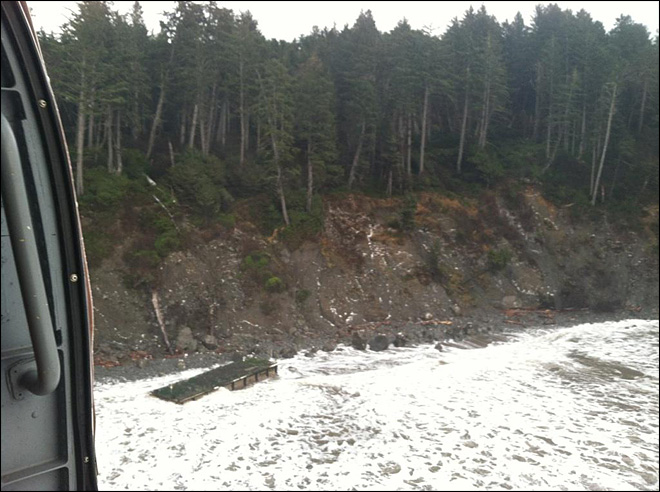 Tsunami debris team reaches dock on Wash. coast