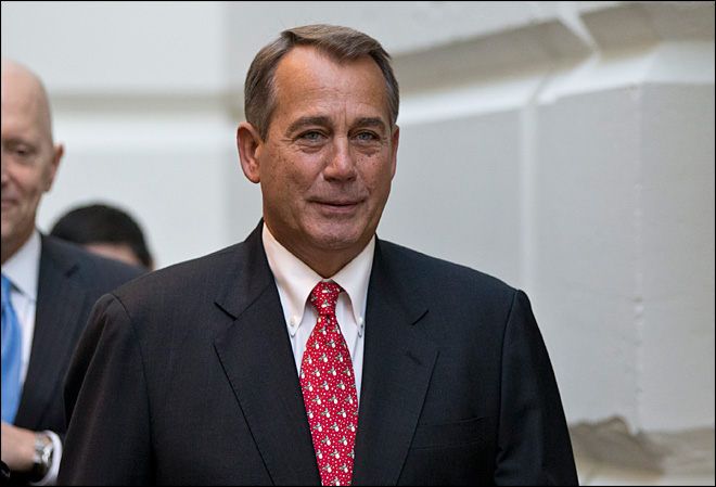 Fiscal cliff efforts ongoing, Boehner offers plan