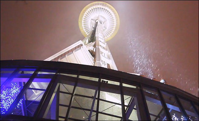 Space Needle Snow