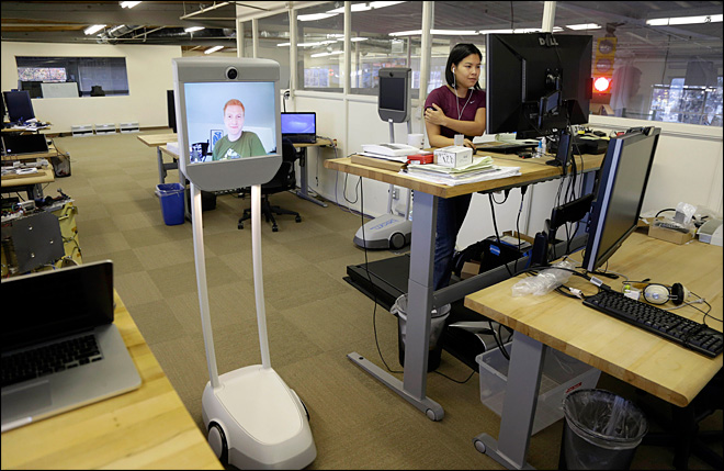 Telepresence robots let employees &#39;beam&#39; into work