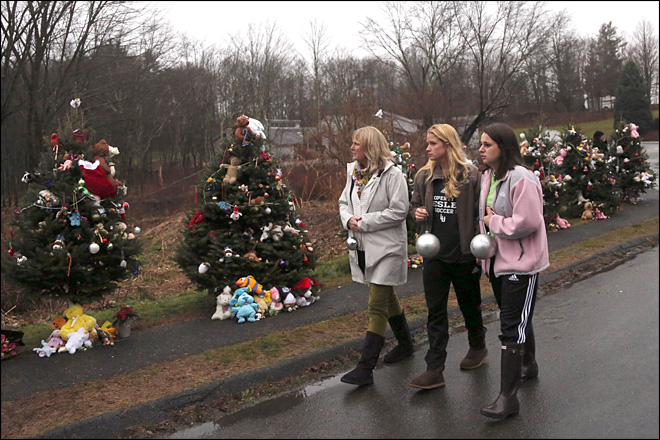 In joyless season, Newtown faces Christmas