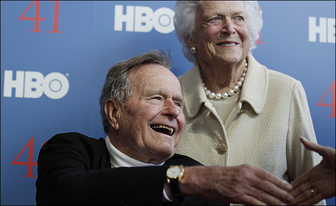 Former President Bush moved out of intensive care