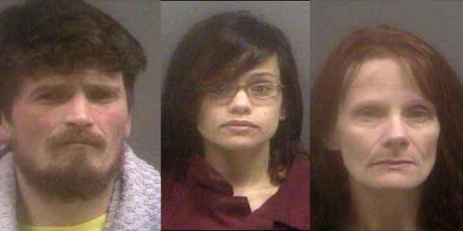 Three arrested on meth charges near Newport High