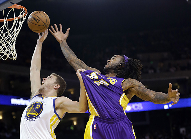 APTOPIX Lakers Warriors Basketball