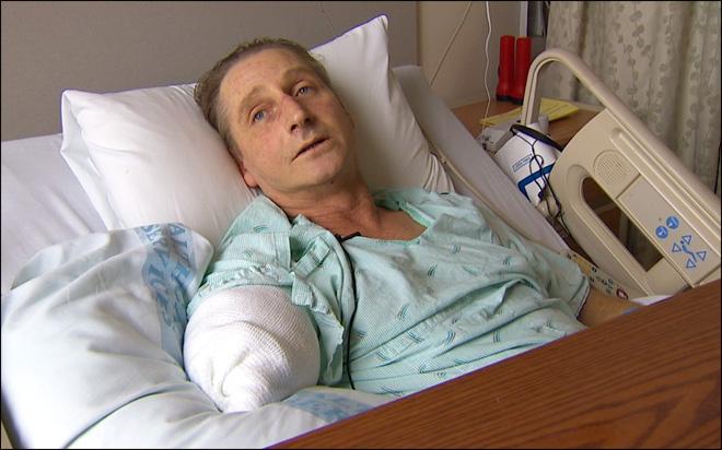 Flesh-eating bacteria victim: 'I was begging - don't cut my arm off'
