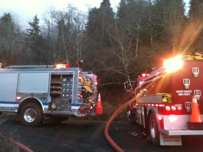 Man injured in house fire on east side of Coos Bay