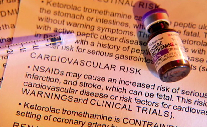 Risky painkiller given to college football players