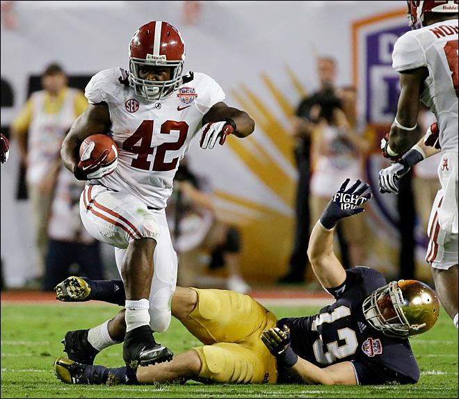 Bama bashes Notre Dame 42-14 in BCS title game