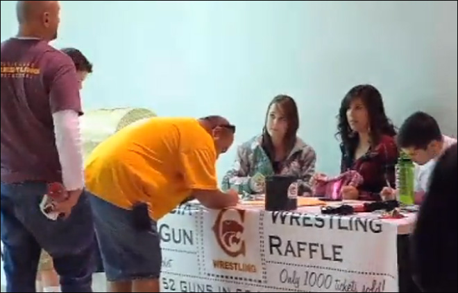 Wrestling team raffles 52 guns in 52 minutes