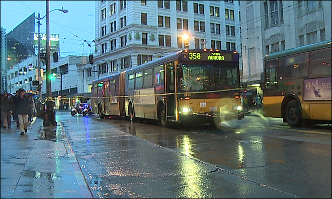 Man hit by bus in Seattle gets up, walks to Starbucks